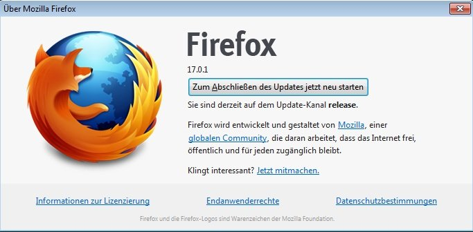 Firefox Version 17