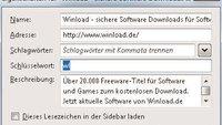 Firefox-Lesezeichen mit eigenen Kurzbefehlen belegen