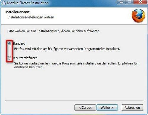 Firefox installieren