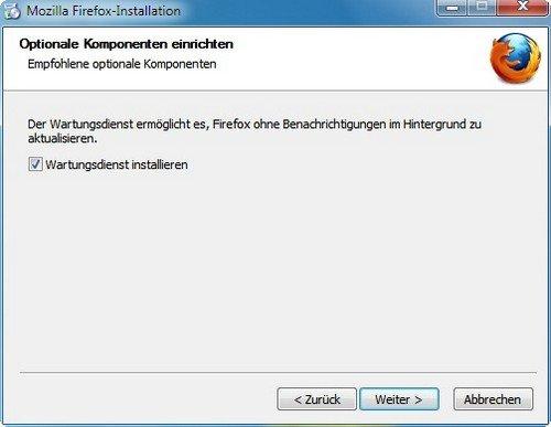 Firefox installieren Wartung