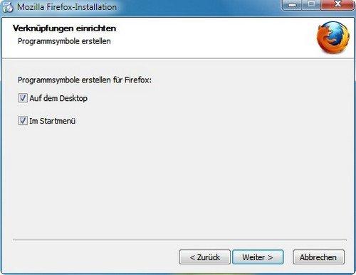 Firefox installieren Symbole