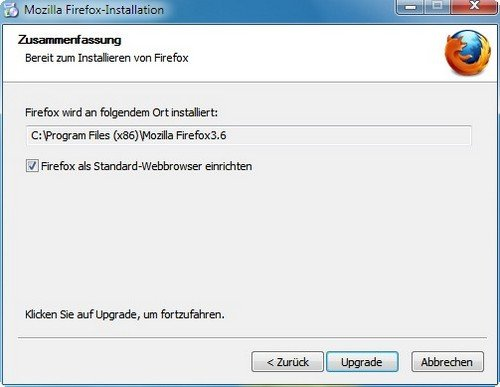 Firefox installieren Standardbrowser