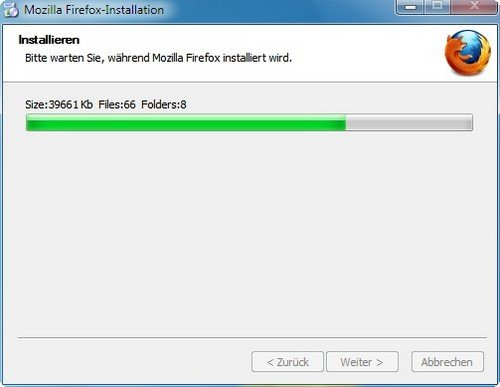 Firefox installieren Abschluss