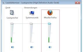 Kein Ton in Firefox: Reden ist Silber...