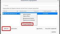 Firefox: Passwörter auslesen, löschen und ändern – so geht's