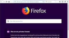 Firefox: Im privaten Modus surfen – so geht's
