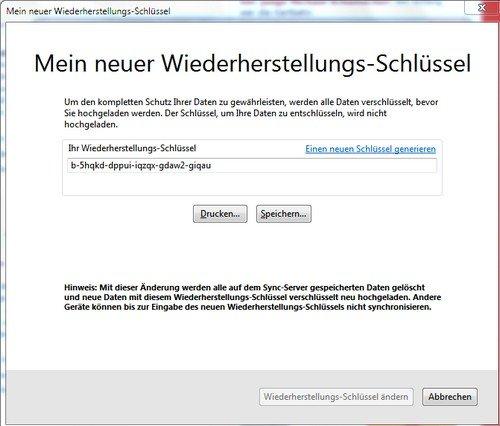 Firefox Sync Restore
