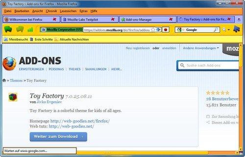 Firefox Themes hinzufügen