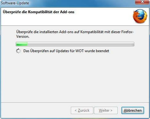 Mozilla Firefox Update Addons