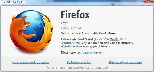 Mozilla Firefox Update Neustart