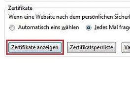 Firefox Zertifikate: Elektronische Identitätsverifikation