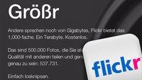 Flickr: 1 Terabyte Gratis-Speicher und neues Design