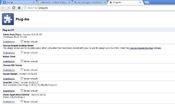 Google Chrome Java Screenshot