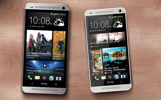 "Größenvergleich: HTC One vs HTC One ""mini"""
