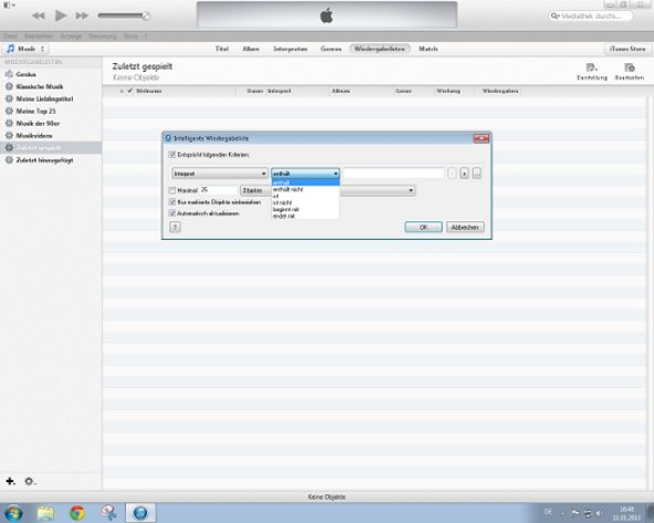 iTunes DJ Screenshot