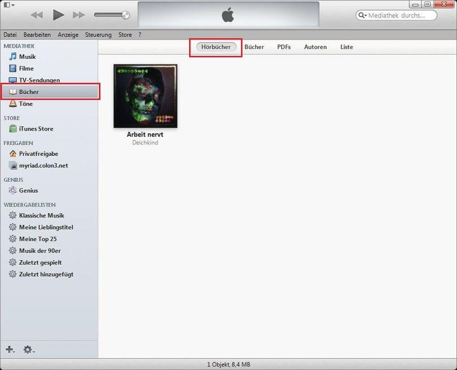 iTunes Hörbuch erstellen