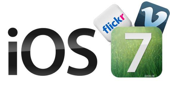 iOS 7: Vimeo statt YouTube und mehr Flickr