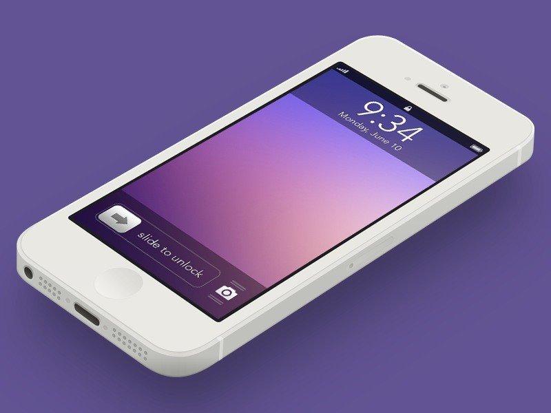iOS 7 Lockscreen Konzept von Kyle Adams