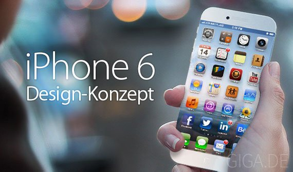iPhone 6: Konzept mit randlosem Display und Carbonfaser-Alu-Gehäuse