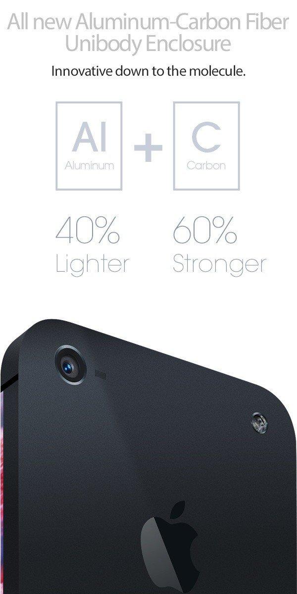 iPhone 6 Design-Konzept: Unibody-Gehäuse aus Alu-Carbonfaser-Verbund