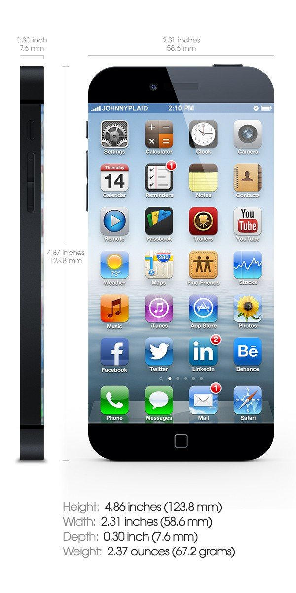 iPhone 6 Design-Konzept: Abmessungen