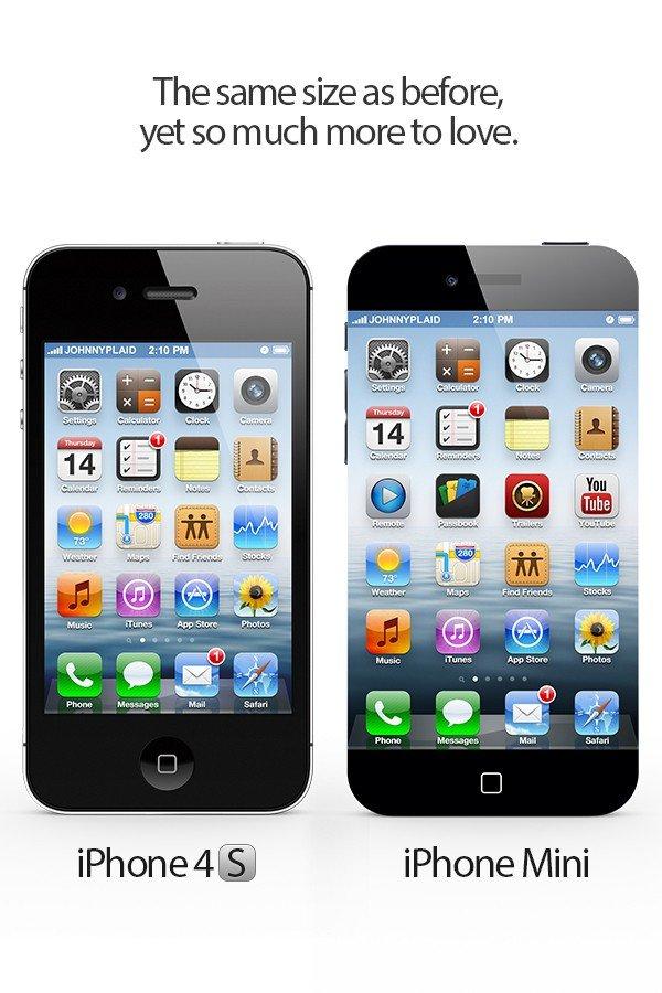 iPhone 4S und iPhone mini Design-Konzept