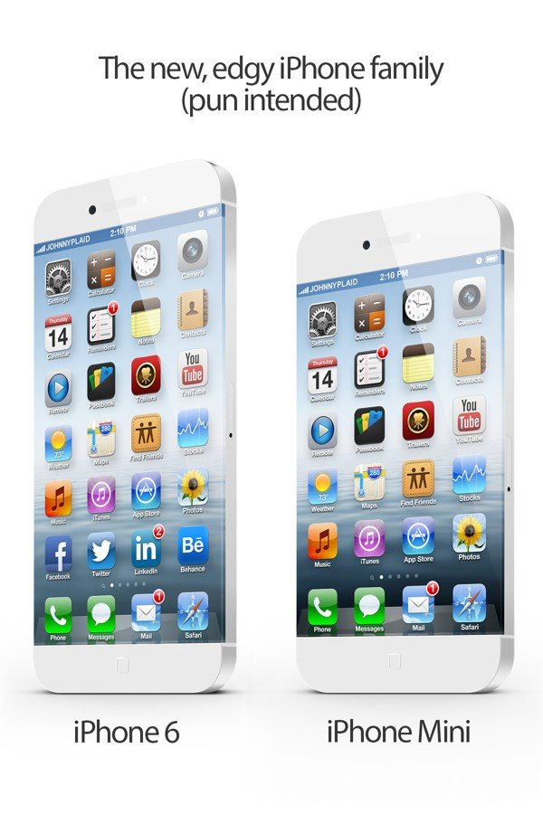 Design-Konzepte: iPhone 6 und iPhone mini