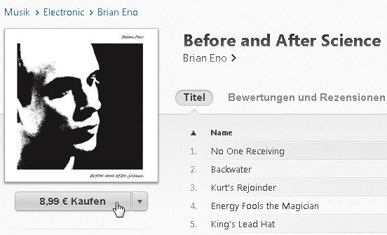 iTunes Album kaufen Screenshot