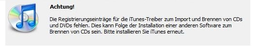 iTunes deinstallieren Screenshot