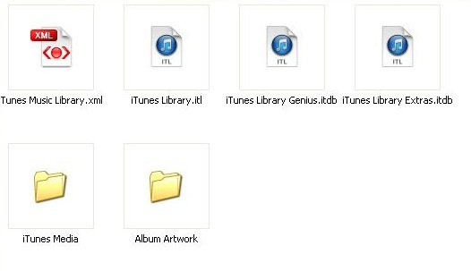 iTunes externe Festplatte Screenshot