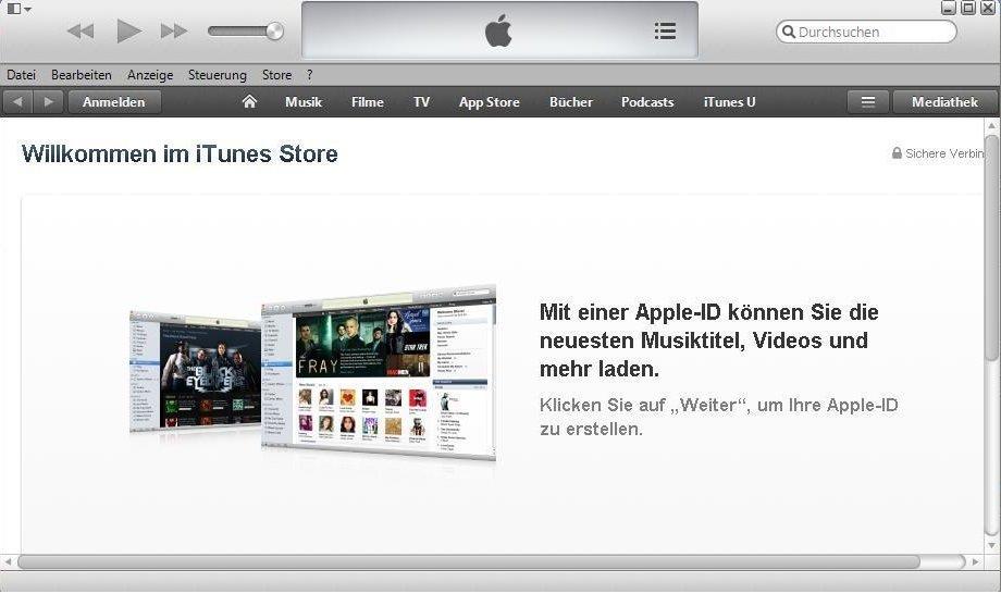 iTunes PC aktivieren