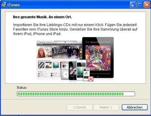 iTunes Installation Screenshot