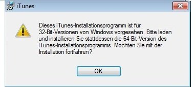 iTunes Installation Screenshot