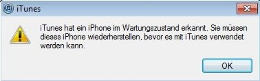 iTunes iPhone entsperren Screenshot