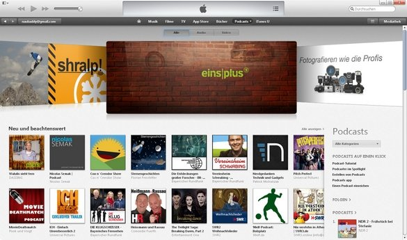 iTunes Podcasts im Store Screenshot