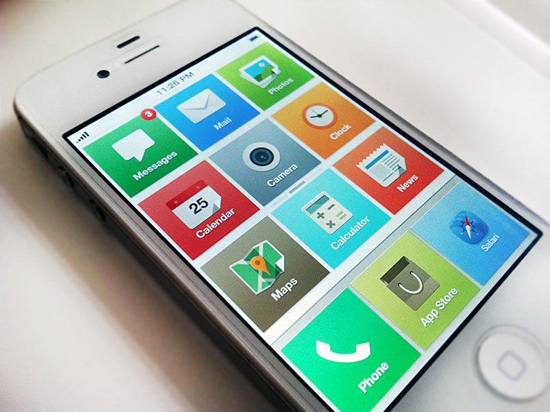 iOS 7 Konzept von John Menard