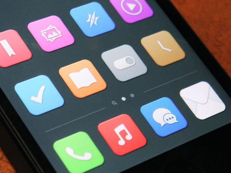 iOS 7 Konzept von Manu Gamero