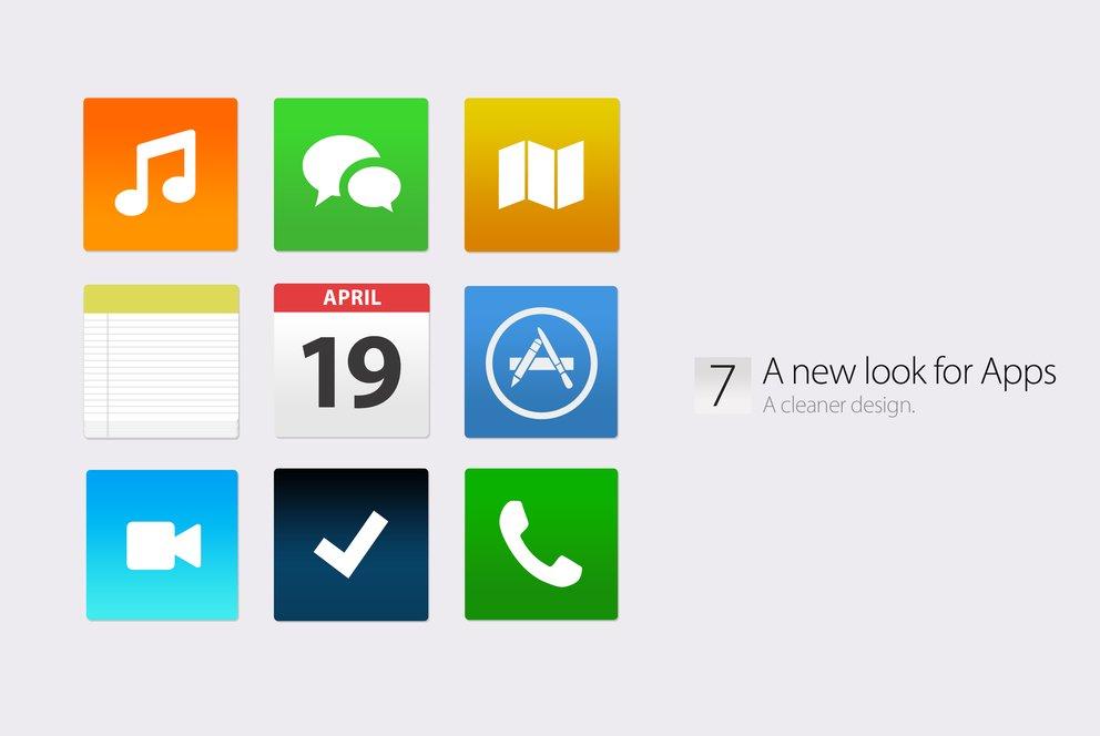iOS 7 Konzept: Neue App-Icons
