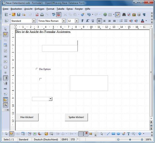 OpenOffice Base Formular-Assistent