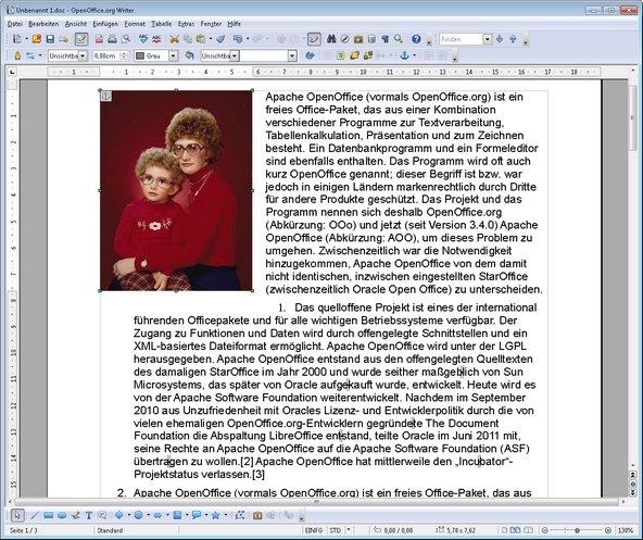 OpenOffice Bild drehen und einfügen