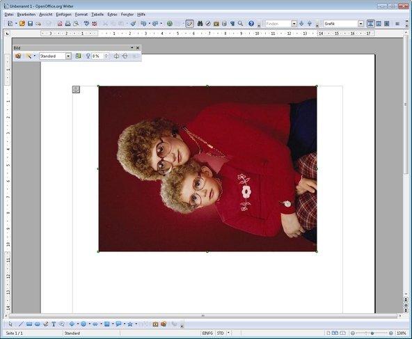 OpenOffice Bild drehen falsch herum