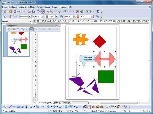 Openoffice draw kostenloses zeichenprogramm giga - Diagramme sur open office ...