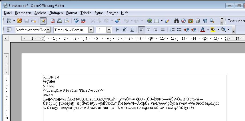 OpenOffice PDF-Import: Erweiterung nutzen