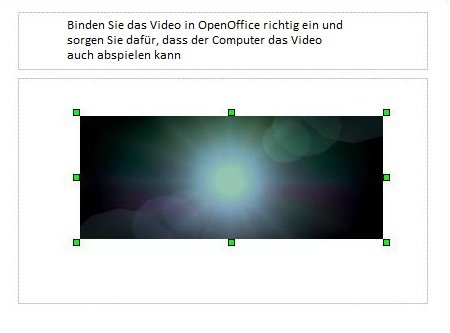 OpenOffice Quadrat Video einbinden