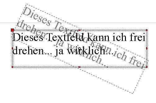OpenOffice Textfeld drehen