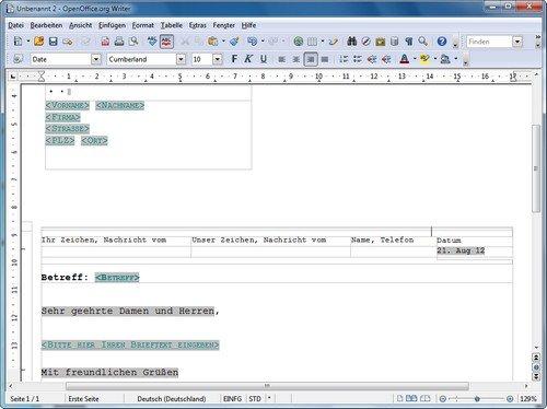 Brief Mit Openoffice Erstellen : Wie schreibe ich mit openoffice einen brief giga