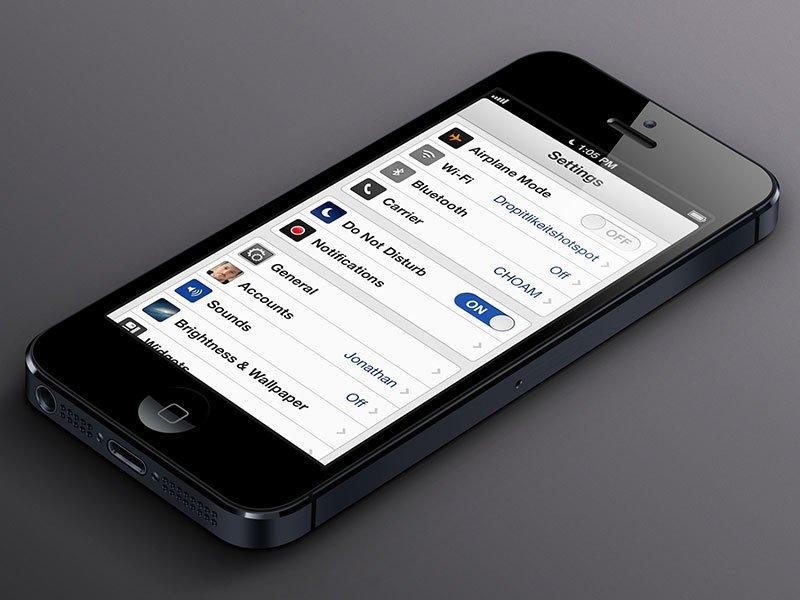 iOS 7 Konzept für Einstellungen-App von Tim Green