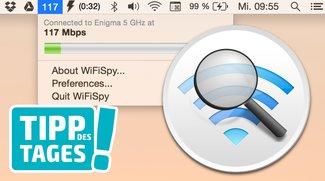 WLAN-Geschwindigkeit am Mac anzeigen mit WiFiSpy (Tipp)