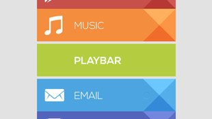 PlayBar UCCW: Homescreen im Play Store-Look