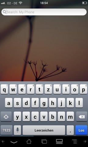 iOS-Tastatur in Android einrichten